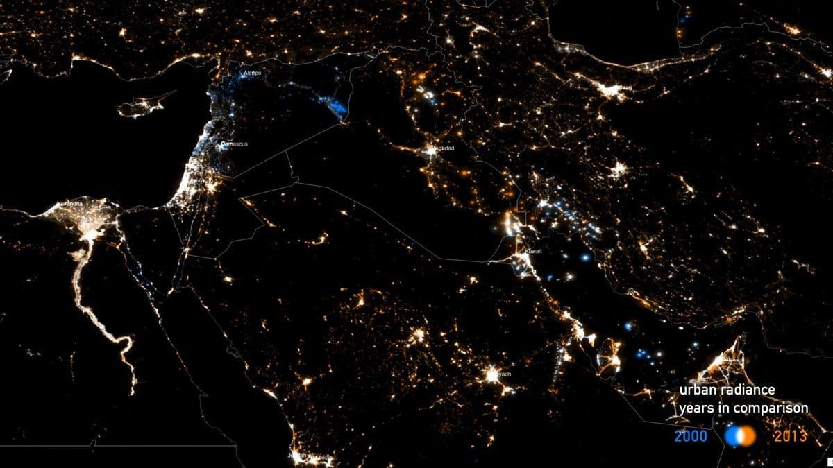 Middle east, radiance 2000 vs. 2013
