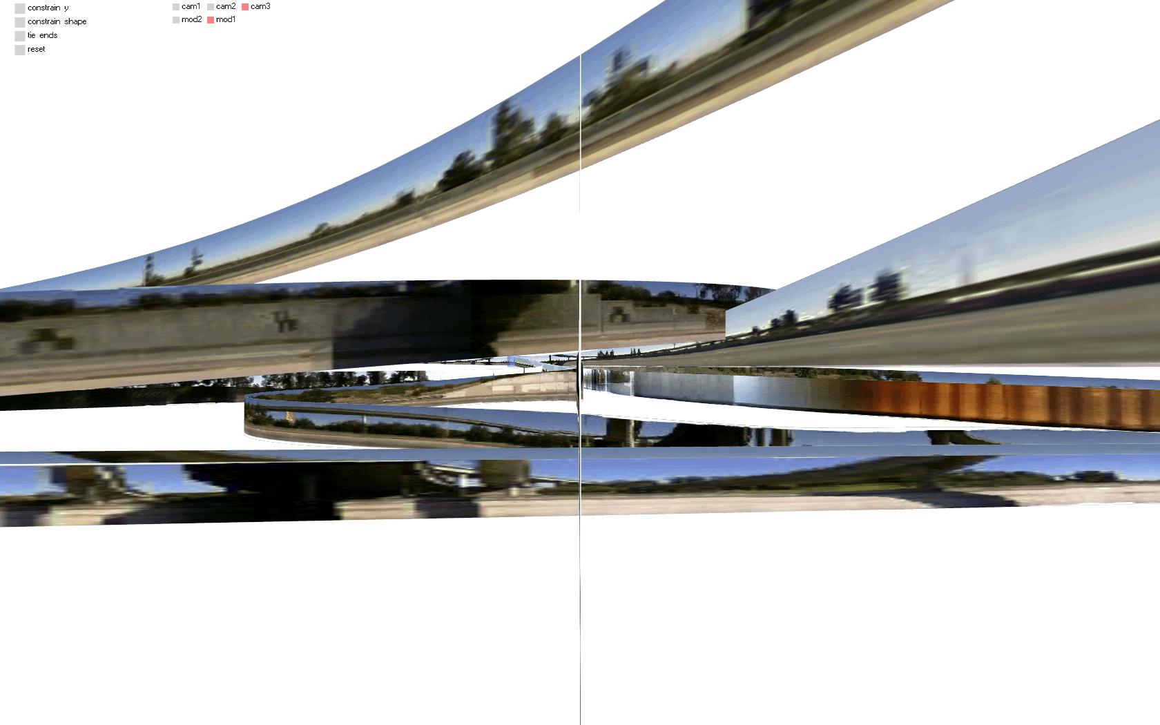 Glendale Freeway intersection, internal view
